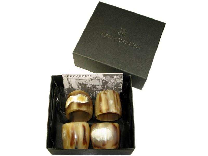 Box of Four Horn Napkin Ring