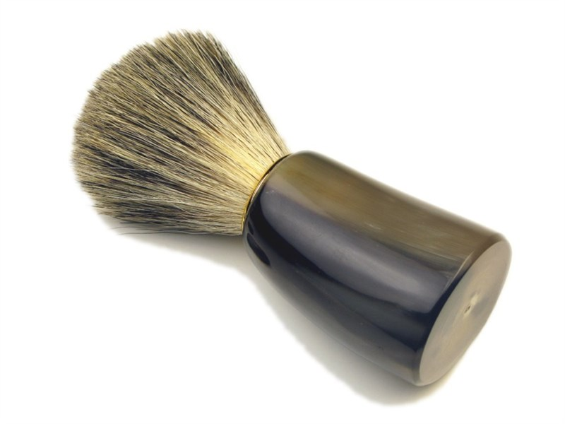 Shaving Brush - Super Badger Bristle - Oxhorn