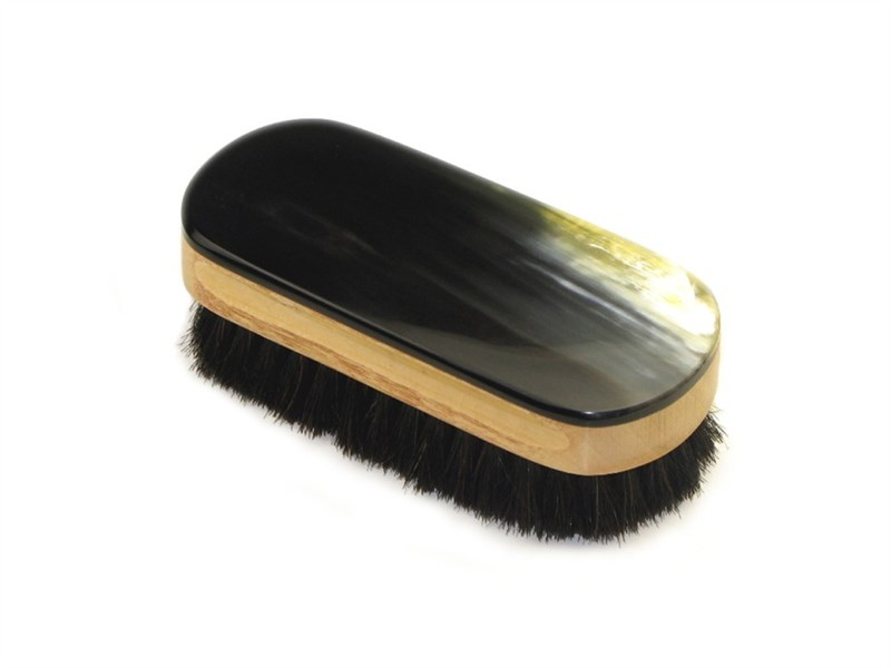 Oxhorn Backed Shoe Brush - Small