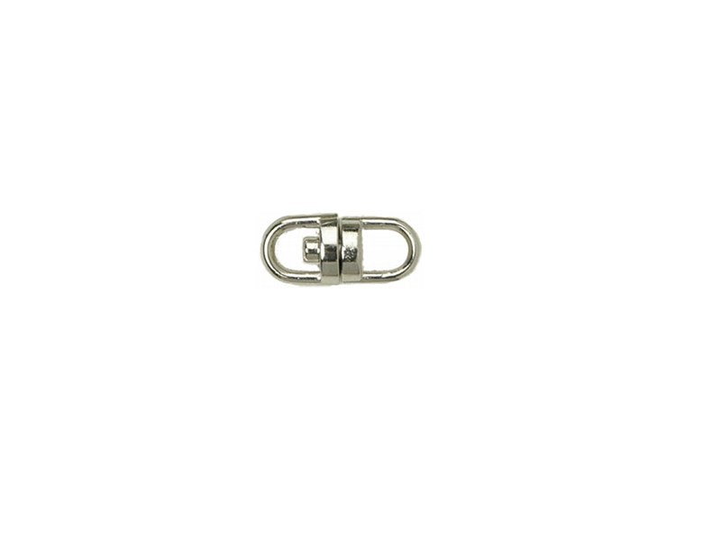 10 x  Keyring Swivel Nickel Plated - 15mm