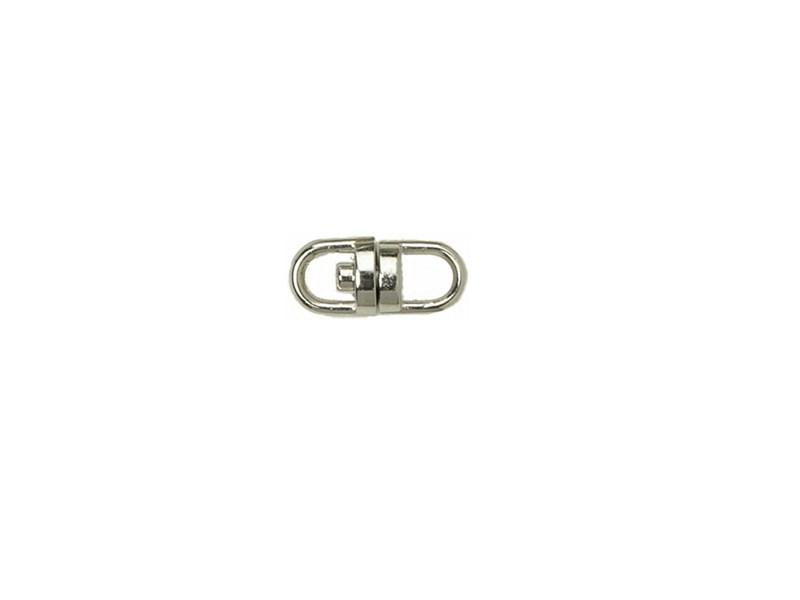 10 x  Keyring Swivel Nickel Coated - 15mm