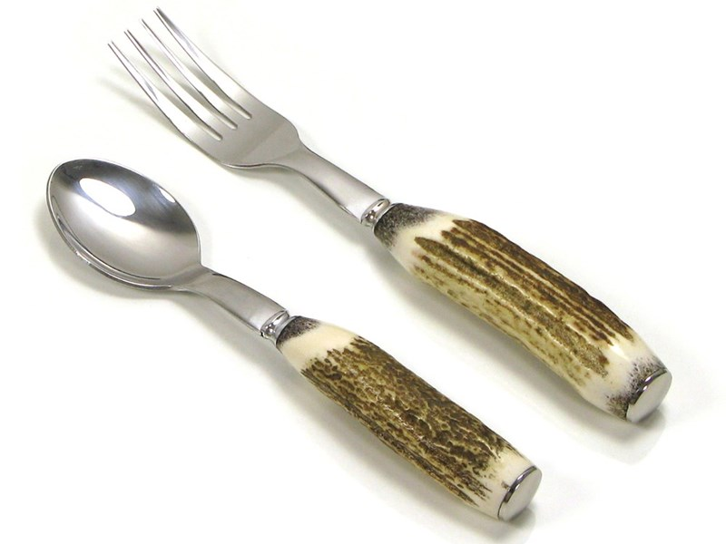 Stag Antler Children's First Cutlery Set