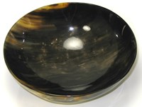 Extra Large Round Cow Horn Bowl