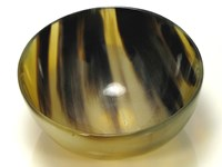 Small Round Cow Horn Bowl