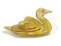 Brooch - Oxhorn - Swan