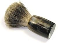 Horn Shaving Brush With Badger Bristles