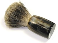 Horn Shaving Brush With Badger Bristles