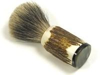 Shaving Brush - Badger Bristle - Stag Antler