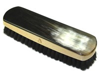 Large Rectangular Horn Backed Dark Shoe Brush