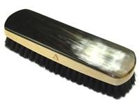 Large Rectangular Horn Backed Dark Shoe Brush