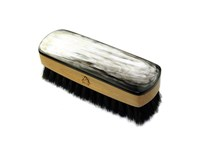 Small Rectangular Horn Backed Dark Shoe Brush