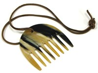 Large Cow Horn Horse Rake Comb