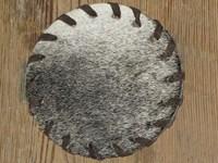 Cow Hide Coaster - Grey