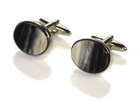 Cuff Links - Oxhorn - Oval