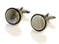 Cuff Links - Oxhorn - Round