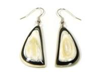Handmade Horn Isometric Drop Earrings