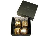 Box of Four Horn Napkin Ring