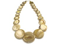 Horn Button Necklace
