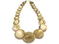Horn Button Necklace