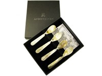 Box of Four Ox Horn Egg Spoon