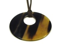 Oval Horn Pendant With Off Centre Hole