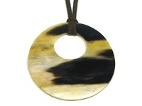 Round Horn Pendant With Off Centre Hole