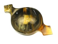 Medium Cow Horn Bowl / Quaich With Handle