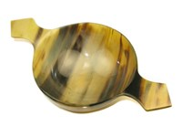 Small Cow Horn Bowl / Quaich With Handle