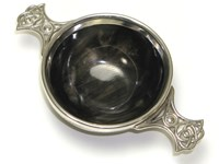 Pewter Mounted Quaich