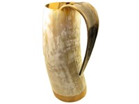 1 Pint Polished Cow Horn Viking Mug / Tankard