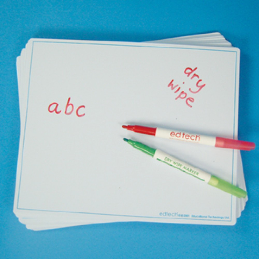 A4 Write And Wipe Boards 30Pk