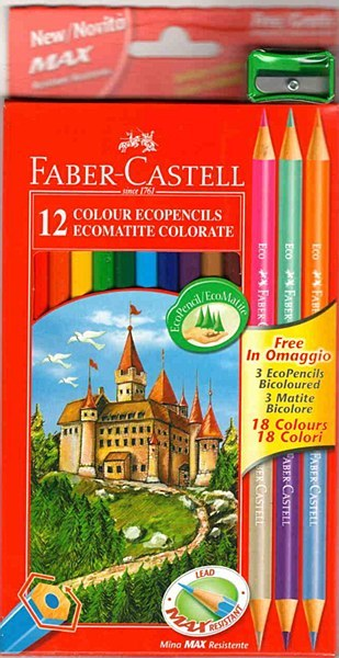 Faber Castell 12+3 Free Colouring Pencil