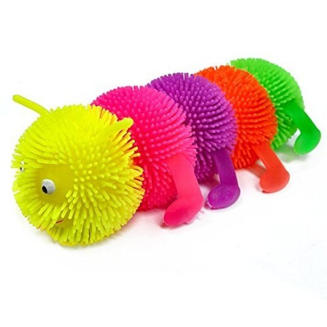 Flashing Squashy Caterpillar Sensory Toy