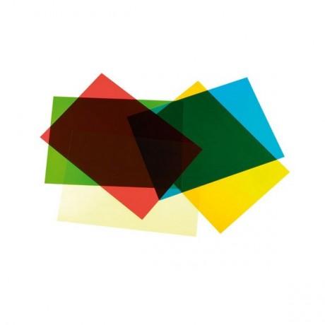 A4 Acetate Sheets Mixed Colours 5Pck