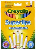 12 Crayola Supertips Superwashable