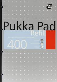 Pukka Refill Pad Side Bound Silver 400Pg