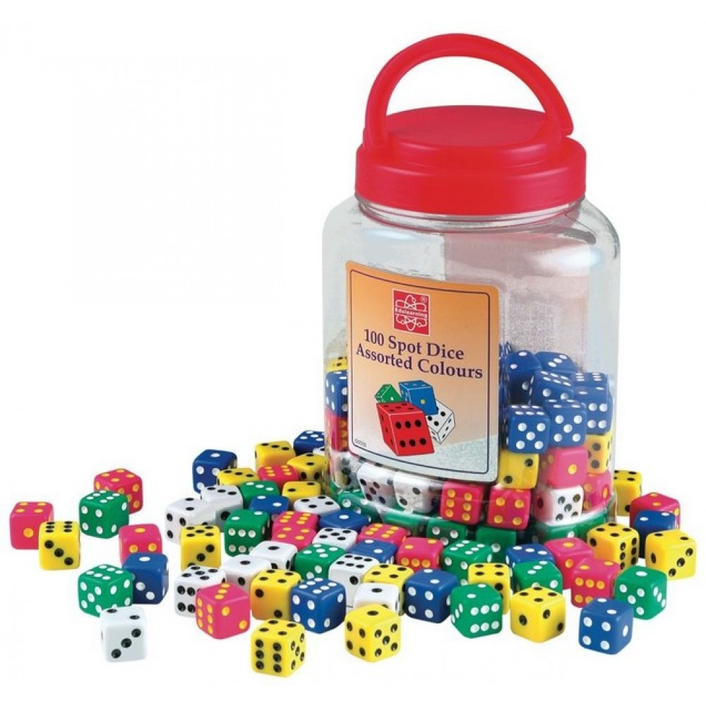 Dot Dice Pack Of 100