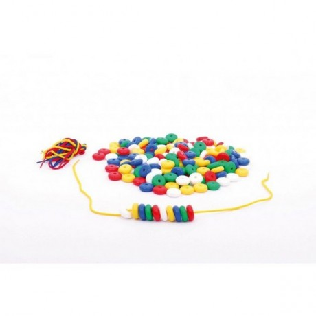 Cleverco Abacus Beads & Laces Pk Of 100
