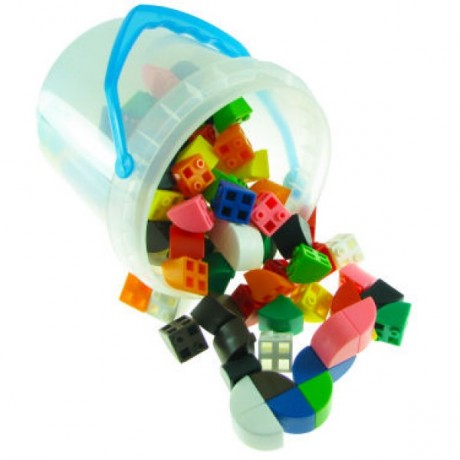 Linking Cubes 1/4 Circle Blocks Set 200