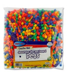 1000 Coloured Pegs For Peg Boards