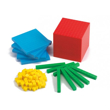 Base Ten Plastic Starter Set 121 Pieces