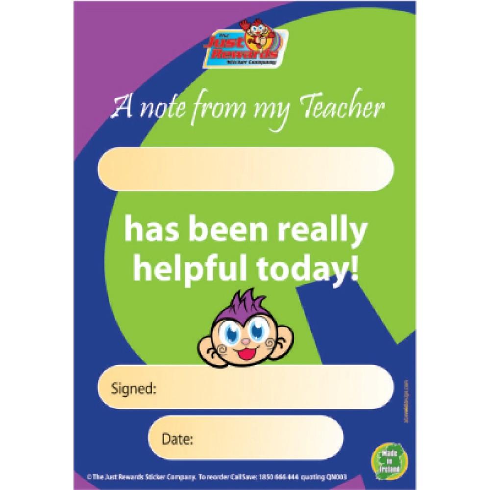 Helpful Pupil Praise Pad