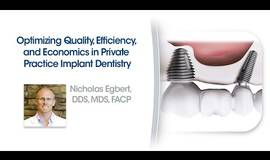 Thumb optimizing quality efficiency and economics in private practice implant dentistry?1612185953