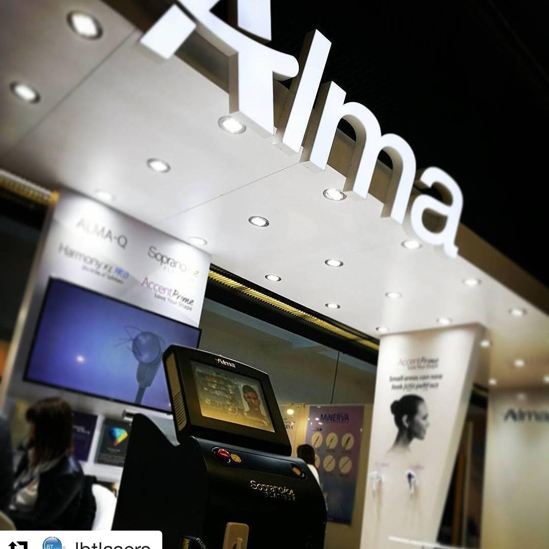 Alma lasers Instagram marketing post