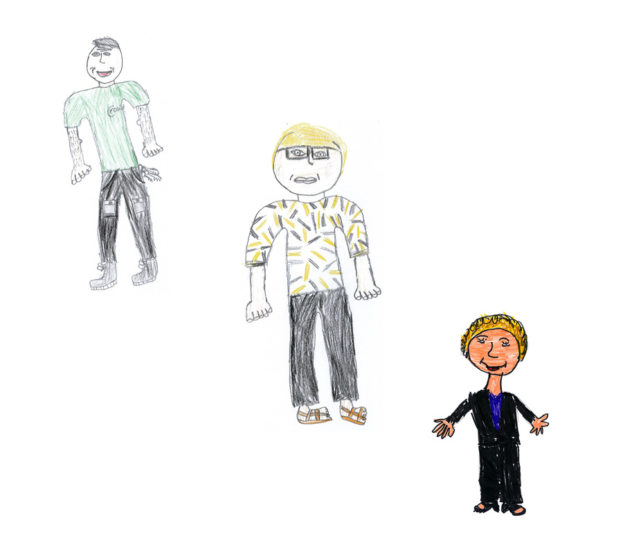Drawings of Aberbargoed Primary School Admin Staff