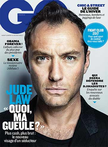 Jude Law en couverture GQ Novembre 2016