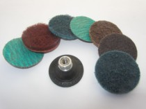 Power lock abrasive sanding discs with roloc and socat fitings for mini sanders and grinders