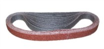 A range of abrasive belts less than 24mm wide.