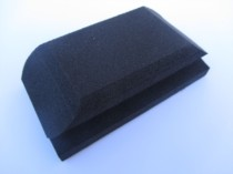 Moulded Handblock For 70 X 125mm Velours Sheets