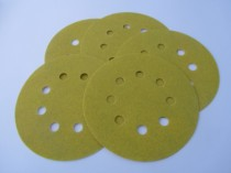 125mm Velours (velcro) Discs 8 Extraction Holes Aluminium Oxide